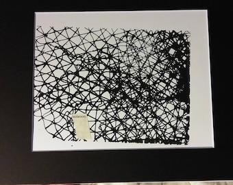 isolation- original screenprinted mixed media print series on mental health