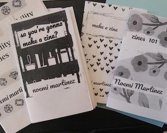 4 mini zine set-So you wanna make a zine?