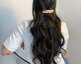 barrette |  wood barrette   french clip   natural wood   hair clip  | hair accessories,