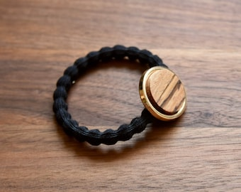 hair elastic handmade, élastique with wood made in Canada