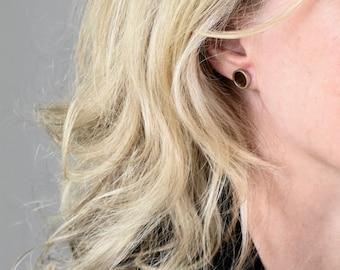 stud earrings   wood earrings   second hole piercing   round earrings   Tiny wood dots studs   minimalist stud