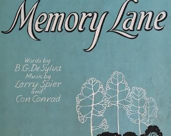 Memory Lane:  Beautiful Wistful Vintage Sheet Music, R-5