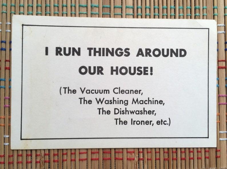 Home Chores Suck MOTTO POSTCARD