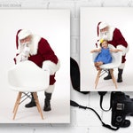 Digital Backdrop, Simple and Clean, Santa with White Chair, Shhhh!, Newborn Photographer, Xmas, Photography, Photographer Studio, Jpeg, jpg