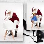 Digital Backdrop, Simple and Clean, Santa with White Chair, Shhhh!, Newborn Photographer, Xmas, Photography, Photographer Studio, Jpeg, jpg