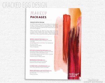 Makeup price list etsy makeup pricing sheet photoshop template makeup brochure smears smudges lipstick price template lipstick salon pricing publicscrutiny Choice Image