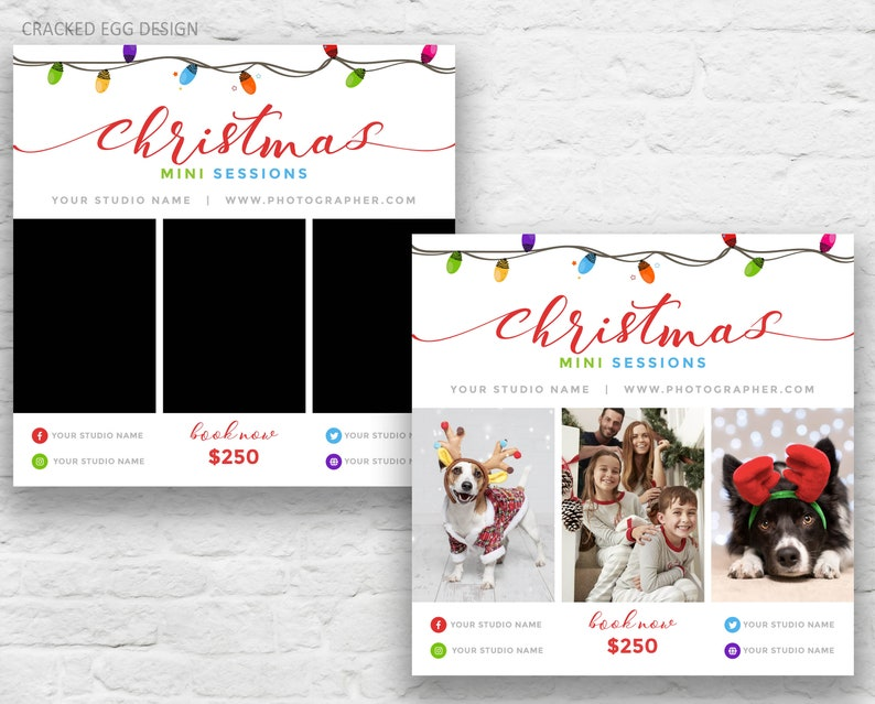 Christmas Mini Session Template Pricing Guide Marketing image 0