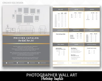 Sell more wall art for photographers, brochure, Photoshop template, pricing guide, products, canvas, IPS sales, photography, In person sales