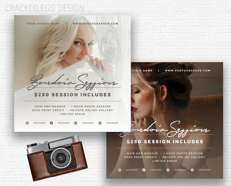 Boudoir Marketing, Instagram Ad, Square Template, Overlay, For  Photographers, Clean, Photoshop Design, Advertisement, IG Marketing