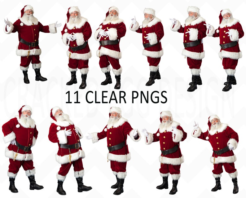 Huge lot of Santa PNGS Perfect for your Christmas Minis Real image 0