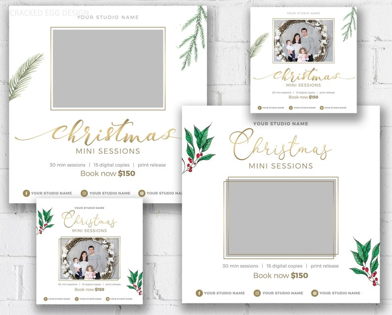 Simple and Clean Christmas Mini Session Template for image 0