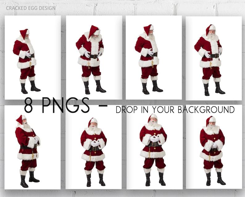 Santa PNGS Digital Backdrops Drop Santa into your Christmas image 0