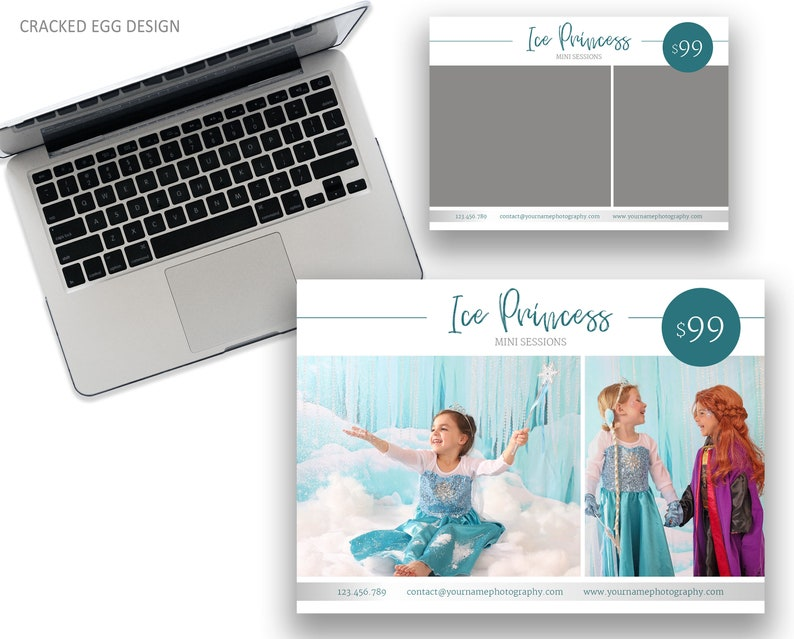 Ice Princess Mini Session Template With Teal Blue Accents image 0