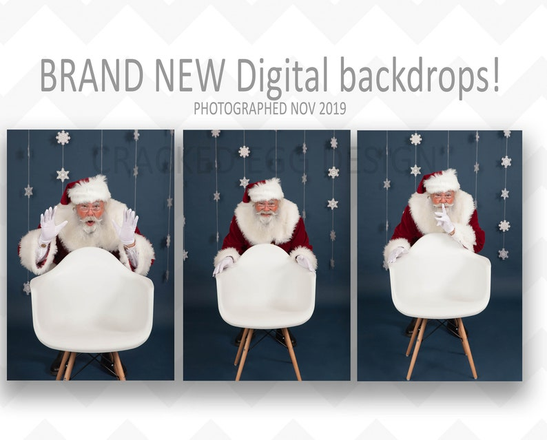 Santa Digital Backdrop for Photographers Digital Background image 0