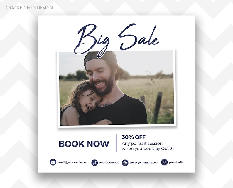 Navy Blue Sale Flyer Ideal for Black Friday Cyber Monday image 0
