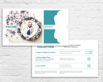 Photographer Template, Create Your Own Collection with Ala Carte Pricing Trifold brochure, Miller's Luxe Template, Photographer Template