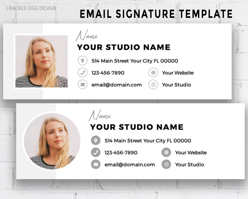 Email Signature Template Photoshop Template Business image 0