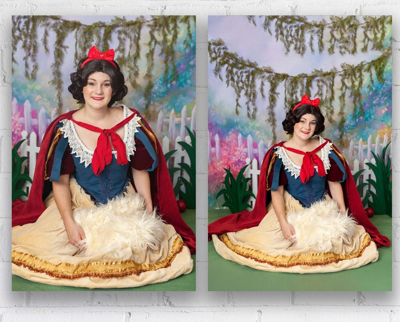 Snow White and the Seven Dwarves Digital Backdrop For image 0