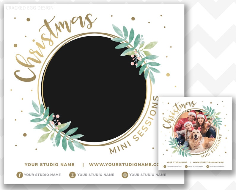 Circle Template Christmas Mini Session Template Pricing image 0