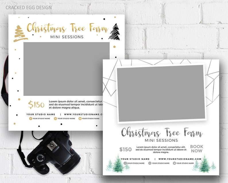 Christmas Tree Farm Mini Session Template Xmas PSD For image 0