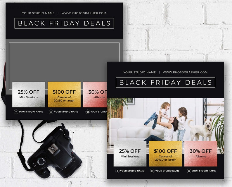 Black Friday Deals Ad Ideal for Photographers Instagram and image 0
