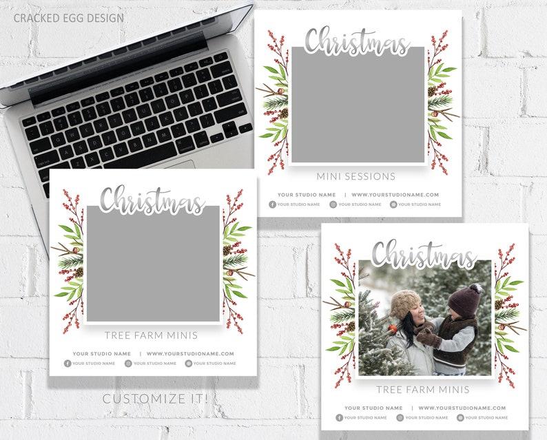 Christmas Tree Farm Mini Session Template Customize in image 0
