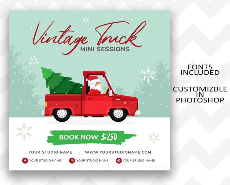 Vintage Truck Mini Session Photoshop Template for image 0