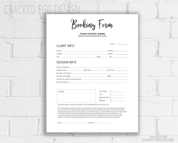 Contract Template For Photographers Photography Contract Invoice Business Contract Release Form Simple Clean Photoshop Template