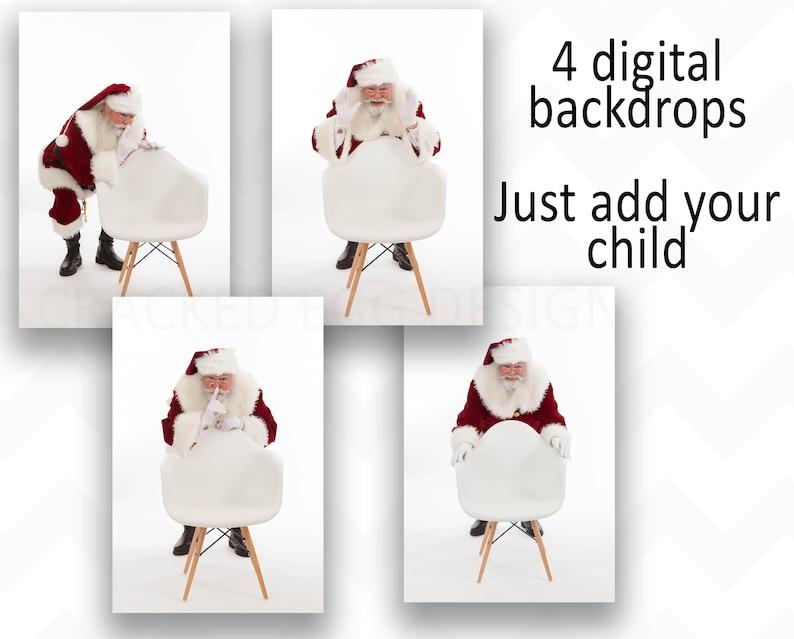Santa Digital Background Backdrop for Photographers Christmas image 0