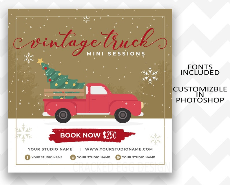 Super Cute Vintage Truck Mini Session Template Just Use image 0