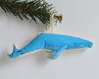 Silkscreen Whale Ornament