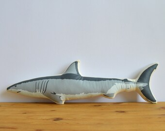 Silkscreen Shark Pillow