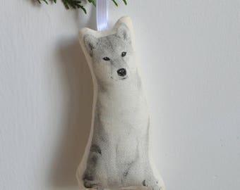 Silkscreen Shiba Inu Ornament