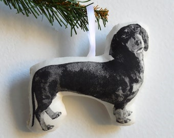 Silkscreen Dachshund Ornament