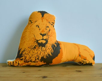 Silkscreen Lion Pillow