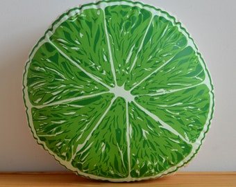 Silkscreen Lime Pillow