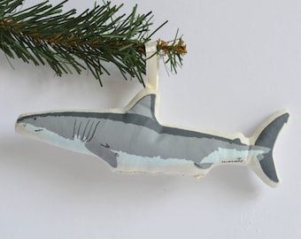 Silkscreen Shark Ornament