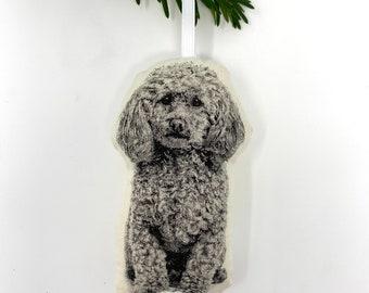Silkscreen Poodle Ornament