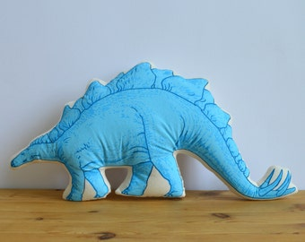 Silkscreen Stegosaurus Pillow