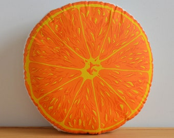 Silkscreen Orange Pillow