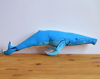 Silkscreen Whale Pillow