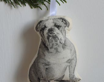 Silkscreen Bulldog Ornament