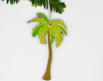 Wooden Palm Tree Ornament