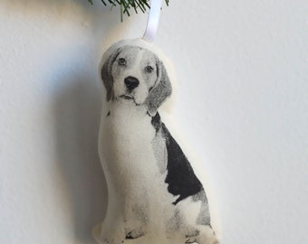 Silkscreen Beagle Ornament