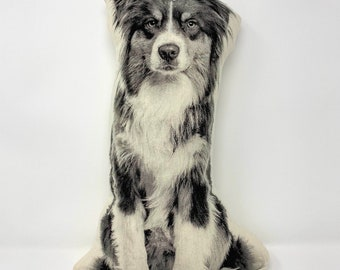 Silkscreen Australian Shepherd Pillow