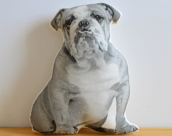 Silkscreen Bulldog Pillow