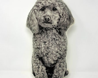Silkscreen Poodle Pillow