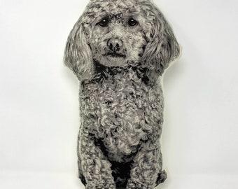 Silkscreen Poodle Pillow