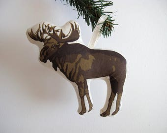 Silkscreen Moose Ornament