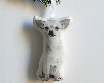 Silkscreen Chihuahua Ornament